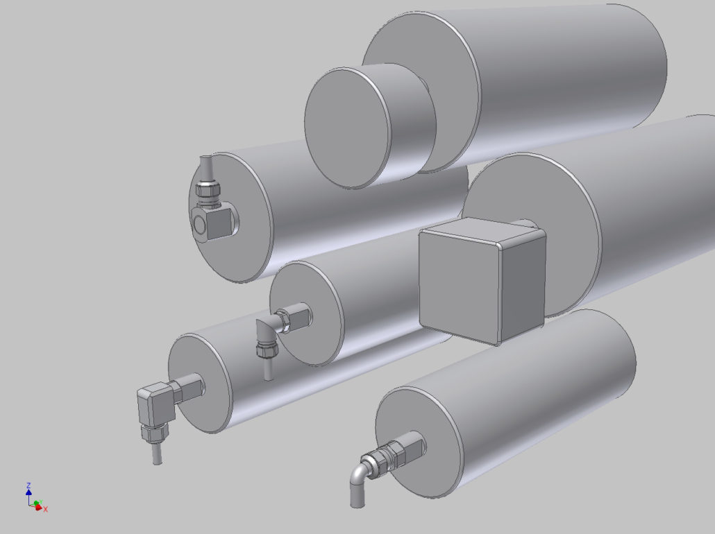 Procon Rulmeca trommelmotor STEP modellen 3D